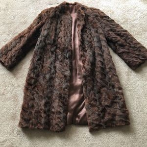 Vintage Real Fur Coat Sz. XS/S